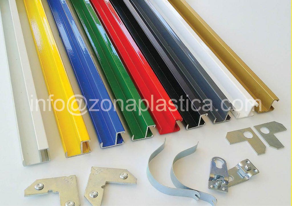 Perfil de aluminio para enmarcar zona pl stica for Colores de perfiles de aluminio