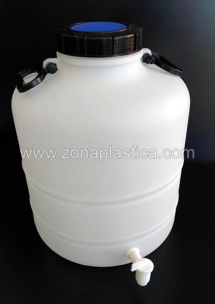 Con grifo regulador zona pl stica for Bidon 30 litros cierre ballesta